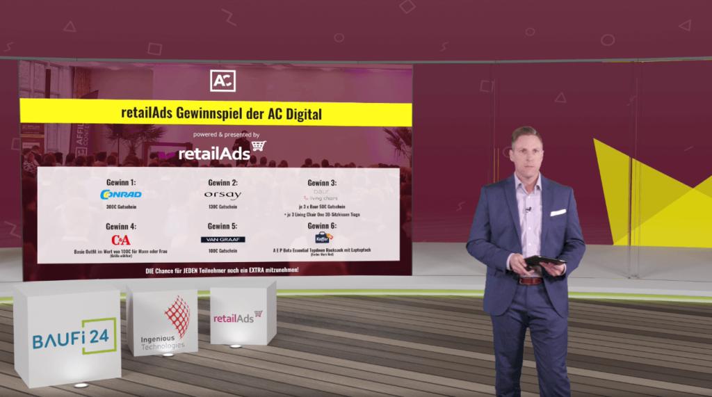 retailAds Gewinnspiel auf der Affiliate Conference 2021